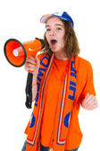 Girl is supporting the Dutch — 图库照片