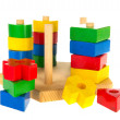 Stock Photo: Wooden baby toys