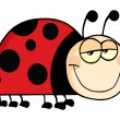 Happy Ladybug Cartoon Character - Foto de Stock