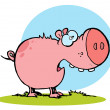 Pink Pig With An Open Mouth — Foto Stock