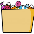 Trick Or Treat Bucket Of Candy - Foto de Stock  