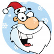 Cartoon Characters SantClaus Head — Stock Photo #4724816