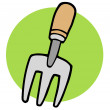 Stock Photo: Gardeners Hand Fork