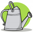 Stock Photo: Metal Gardeners Watering Can