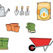 Collage Of Gardening Tools — 图库照片 #4724997