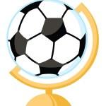 Soccer Ball Desk Globe — Stock Photo
