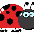 Ladybug Cartoon Character - Stock Photo