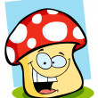 Smiling Mushroom — Stock Photo