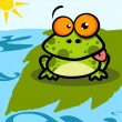 Stock Photo: Frog Cartoon Character