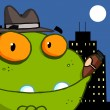 Stock Photo: Mobster Frog Cartoon Character