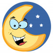 Cartoon Illustrations Of Smiling Moon — Stock Photo #4725353