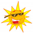 Hot Summer Sun Wearing Shades - Foto Stock