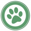 Stock Photo: Green Dog Paw Print