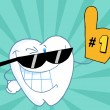 Royalty-Free Stock Photo: Smiling Tooth Cartoon Mascot Character Number One