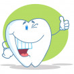 Постер, плакат: Happy Smiling Tooth Cartoon Character