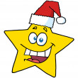 Happy Christmas Star Smiling — Stock Photo #4726282
