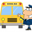 Driver In Front of School Bus — Stok Fotoğraf #4726472