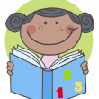 Stock Photo: African American Girl Reading A Book