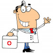 Doctor Man Carrying His First Aid Bag — Stock Photo #4726552