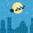 Happy Christmas Night - Stockfoto