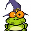Stock Photo: Frog With Witch Hat