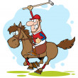 Stock Photo: Polo Player Illustration