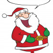 Santa Claus With Speech Bubble — Stock Photo