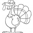 Happy Thanksgiving Turkey Bird Smiling — Stock Photo