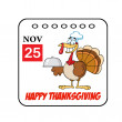 Thanksgiving Holiday Cartoon Calendar — Stock Photo