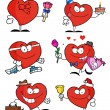 Collage Of Heart Characters — Stock Photo