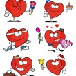 Collage Of Heart Characters — Stock Photo #4727598