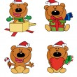 Digital Collage Of Christmas Bears — Stock Photo