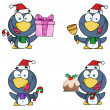 Stock Photo: Christmas Penguin Collection