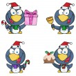 Christmas Penguin Collection — Stock Photo
