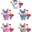 Romantic Bunny Collection - Stock Photo