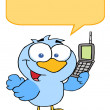 Bird Calling With A Word Balloon — Stock Photo