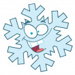 Foto Stock: Snowflake Cartoon Character