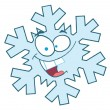 Стоковое фото: Snowflake Cartoon Character