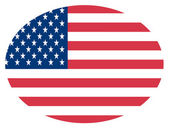 Oval Fourth Of July American Flag — Stock Photo
