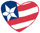 Heart Fourth Of July American Flag — Stock Photo