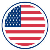 Round Fourth Of July American Flag — Stock Photo