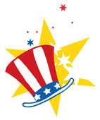American Hat Over Stars — Stock Photo