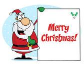 Santa Presenting A Sign — Stock Photo