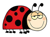 Happy Ladybug Cartoon Character — Stock Photo