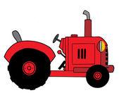 Ilustracja czerwone gospodarstwa ciągnika — Zdjęcie stockowe