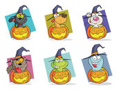 Cartoon Halloween Characters Set — Stock Photo
