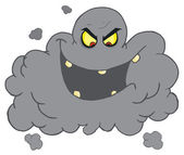 Evil Ash Cloud Laughing — Stock Photo
