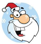 Cartoon Characters Santa Claus Head — Stock Photo