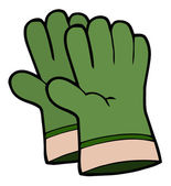 Pair Of Green Gardening Hand Gloves — Stock Photo