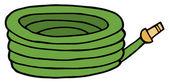 Green Garden Hose — Stock Photo